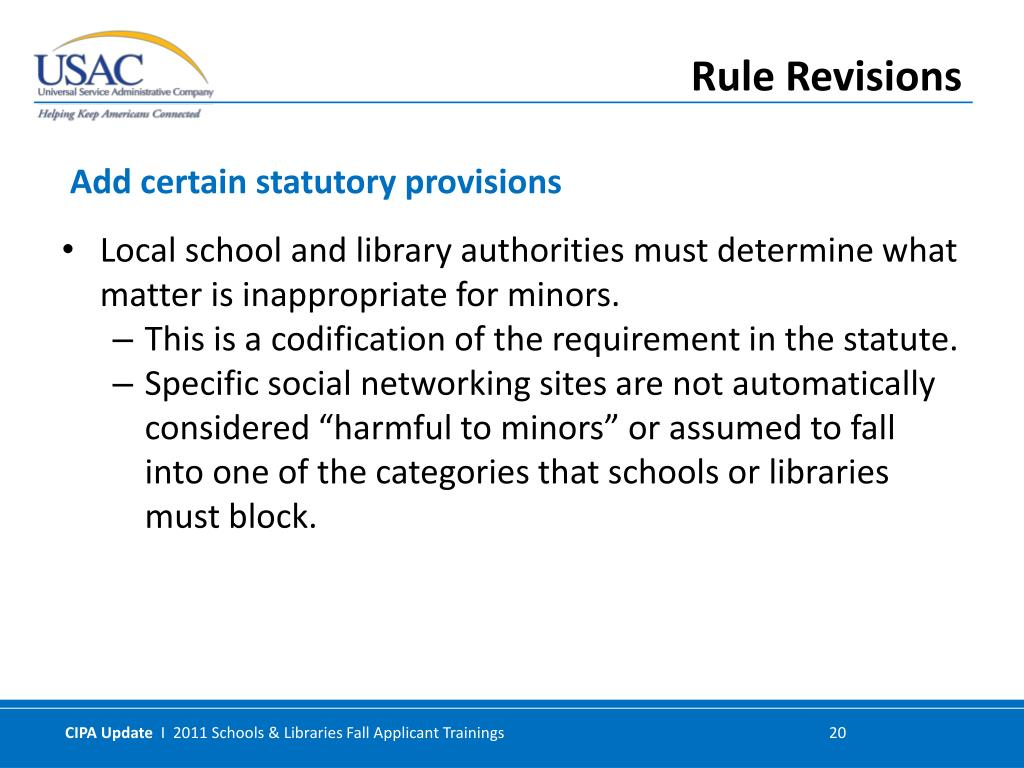 Local school and library authorities must determine what matter is inappropriate for minors.