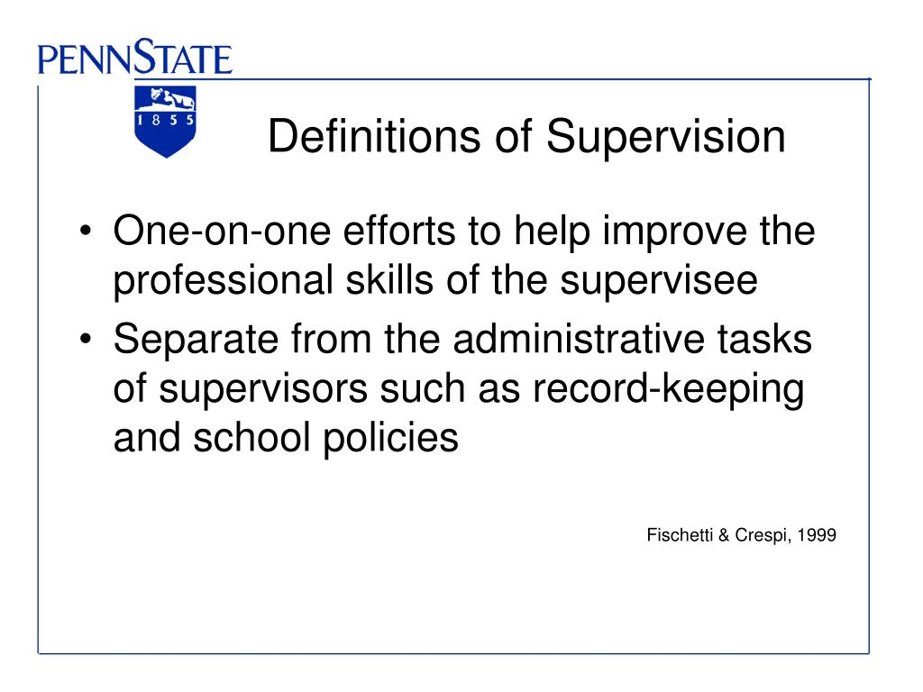 Definitions of Supervision