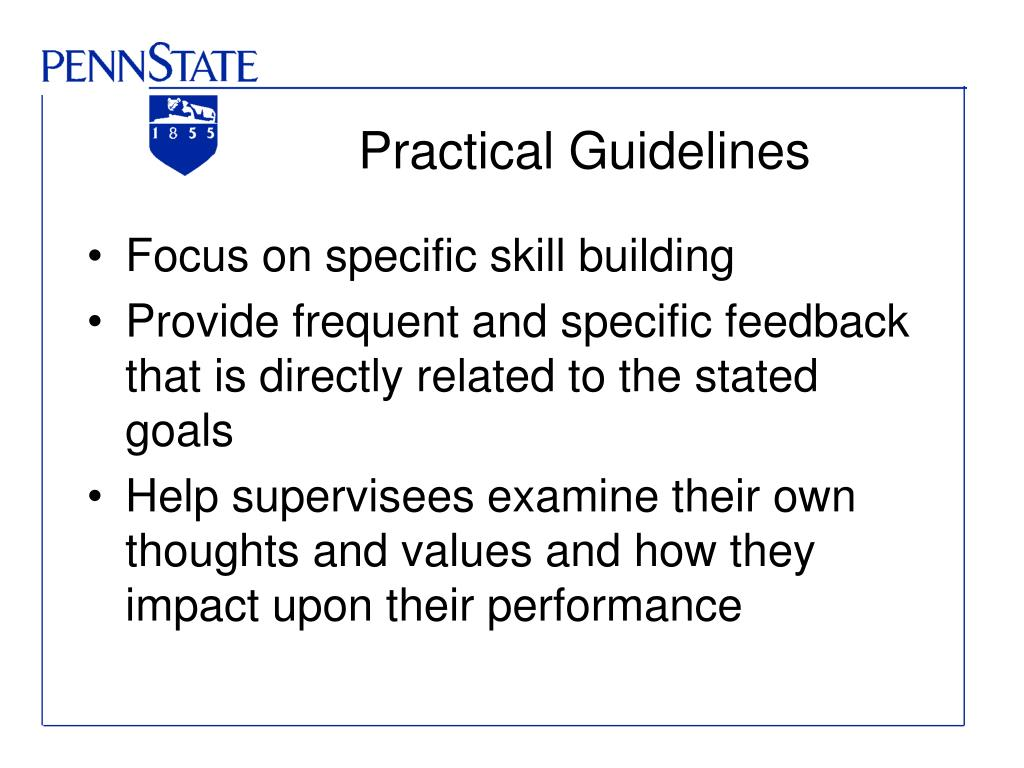 Practical Guidelines