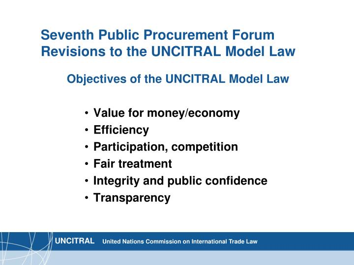 uncitral model law Uncitral model law on international commercial arbitration (1985), with   uncitral rules on transparency in treaty-based investor-state arbitration.