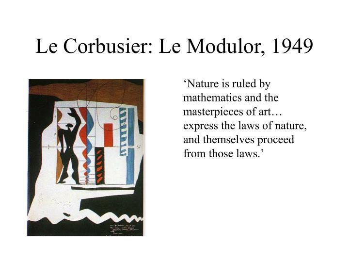 Le corbusier le modulor 1949