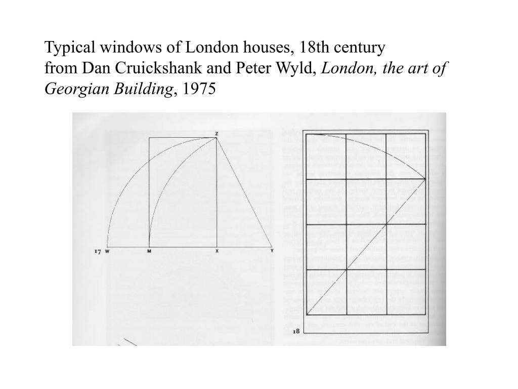 Typical windows of London houses, 18th century