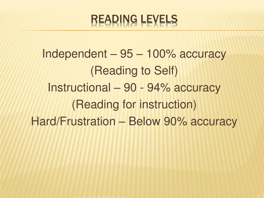 Independent – 95 – 100% accuracy