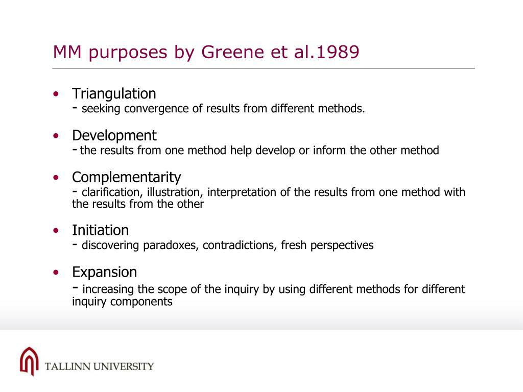 MM purposes by Greene et al.1989