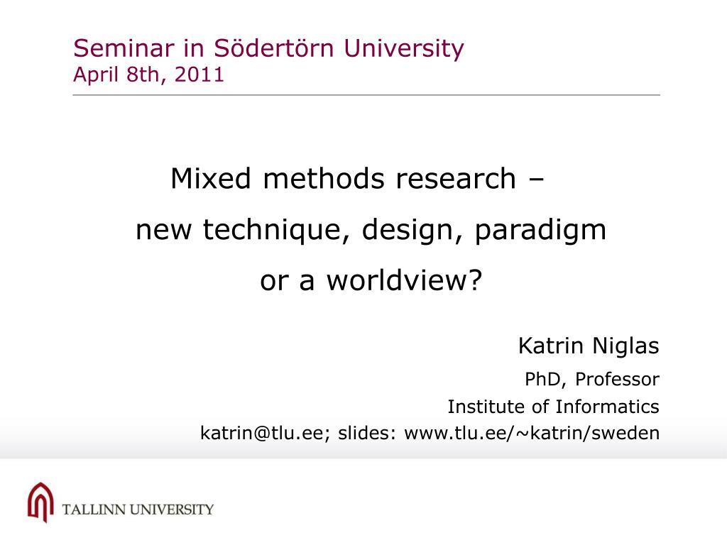 Seminar in Södertörn University