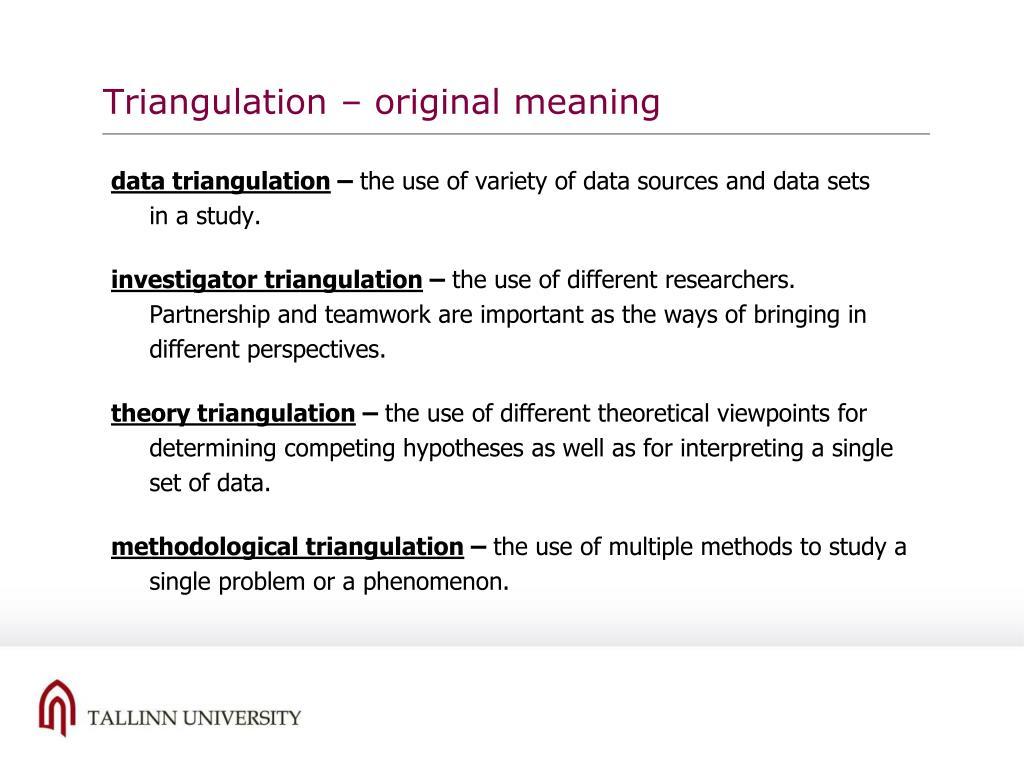 Triangulation – original meaning