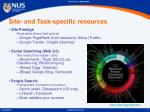 site and task specific resources
