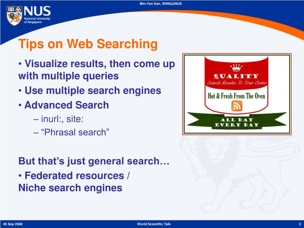 Tips on Web Searching