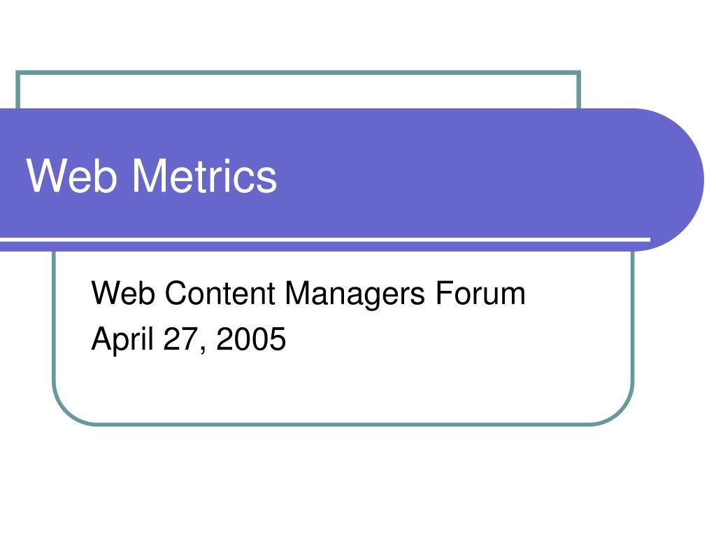web metrics l.