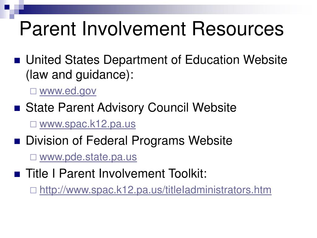 involved parents the hidden resource in This toolkit is a resource for all organizations and community leaders interested  in bringing the parent voice into the planning process and the development of.