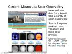 content mauna loa solar observatory