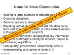 issues for virtual observatories