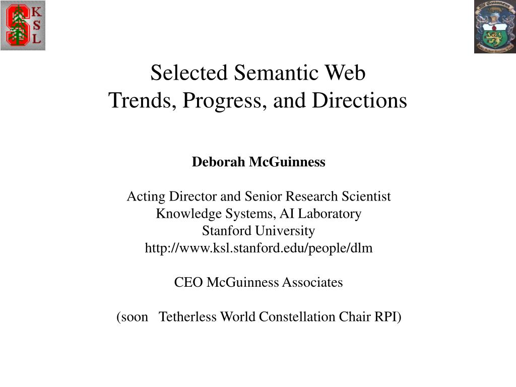 selected semantic web trends progress and directions l.