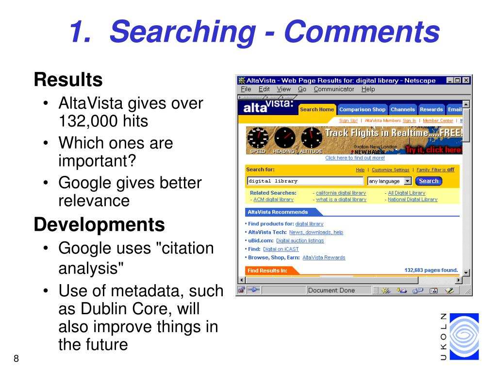 1.  Searching - Comments