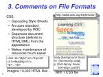 3 comments on file formats