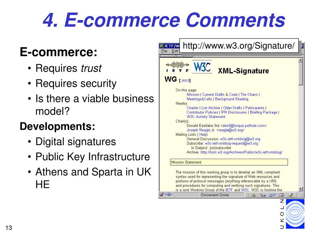 4. E-commerce Comments