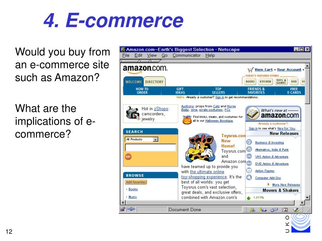 4. E-commerce