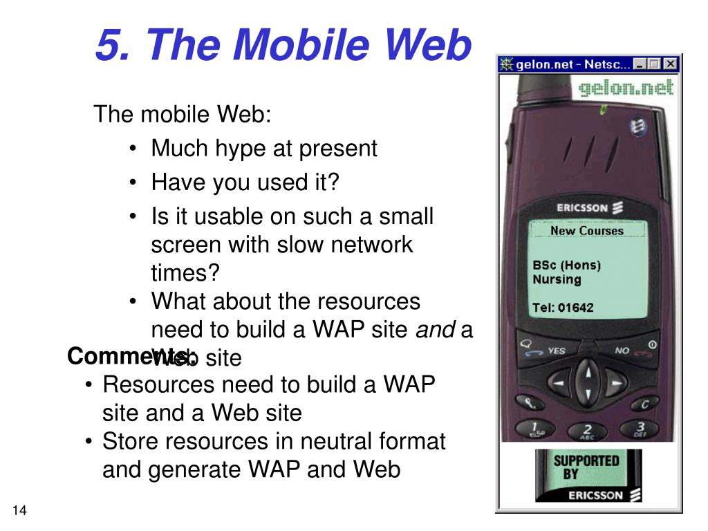 5. The Mobile Web