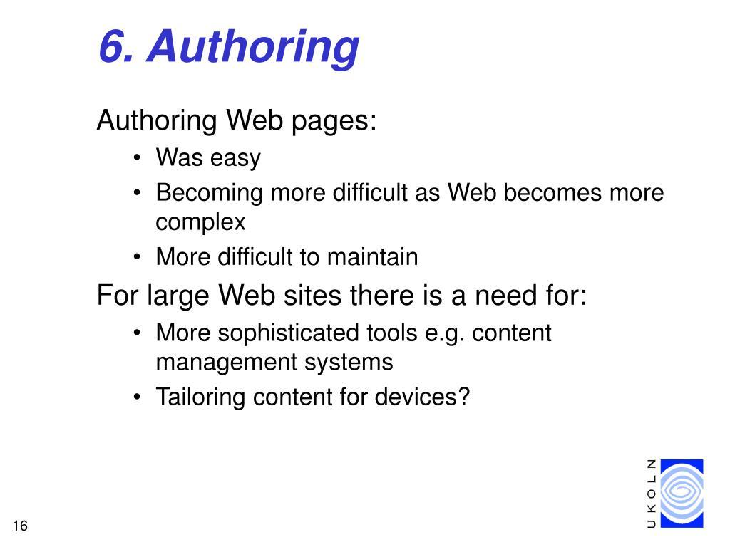 6. Authoring