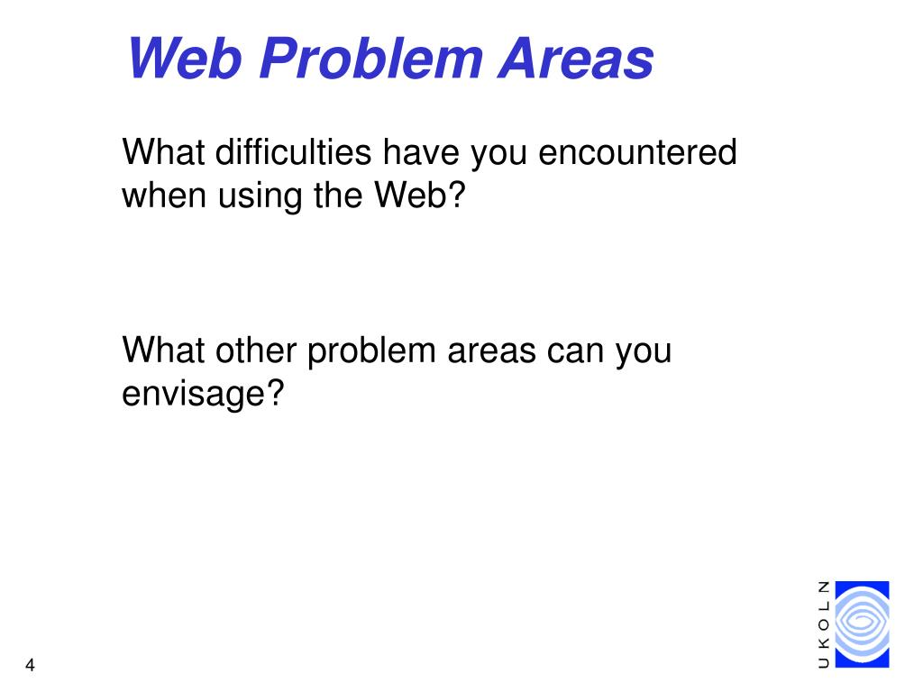 Web Problem Areas