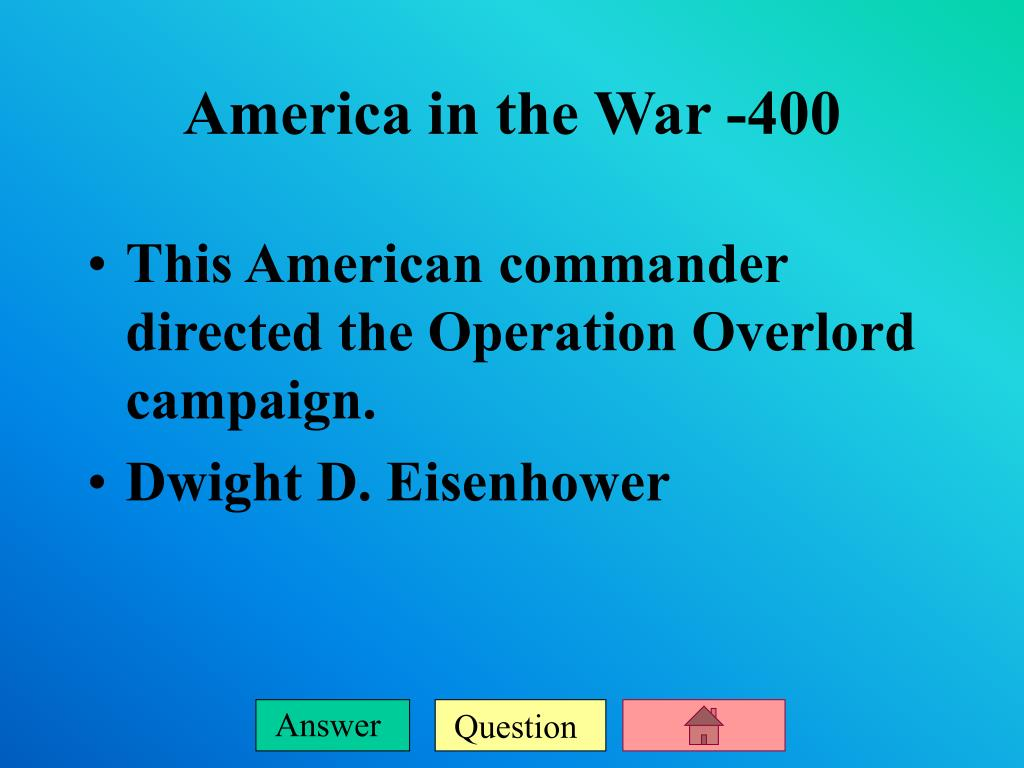 This American commander directed the Operation Overlord campaign.