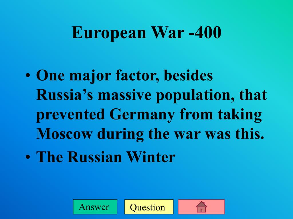 One major factor, besides Russia's massive population, that prevented Germany from taking Moscow during the war was this.