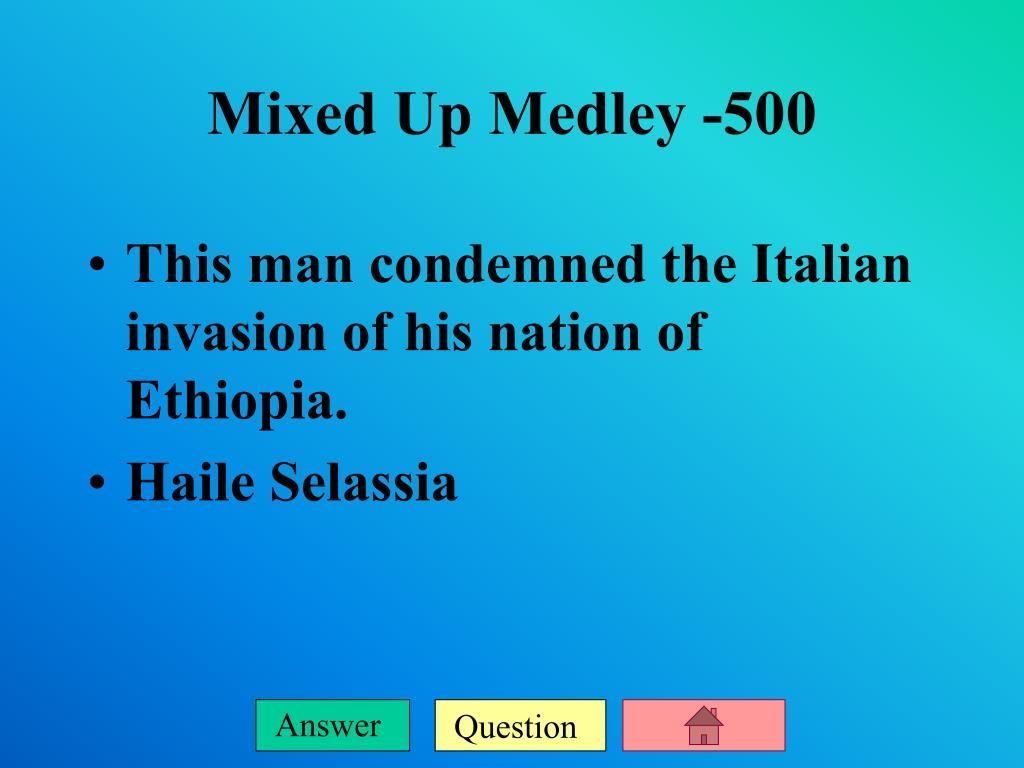 This man condemned the Italian invasion of his nation of Ethiopia.
