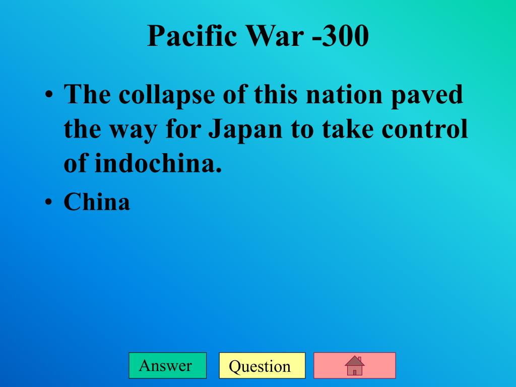 The collapse of this nation paved the way for Japan to take control of indochina.