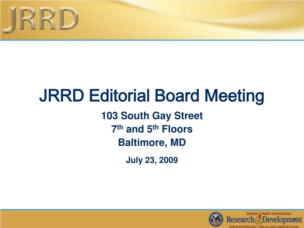 jrrd editorial board meeting l.