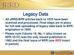 legacy data