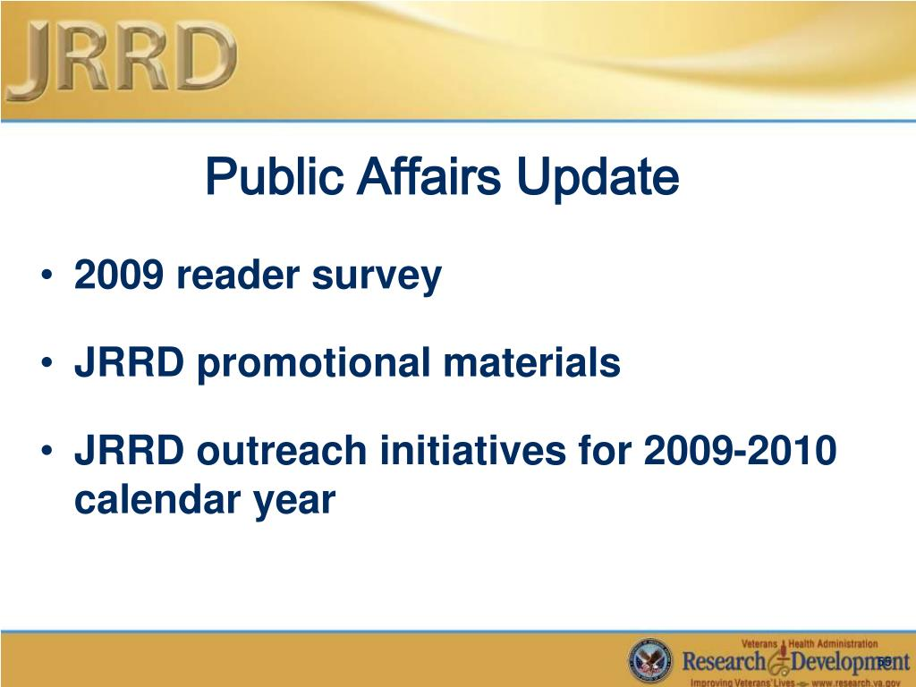 Public Affairs Update