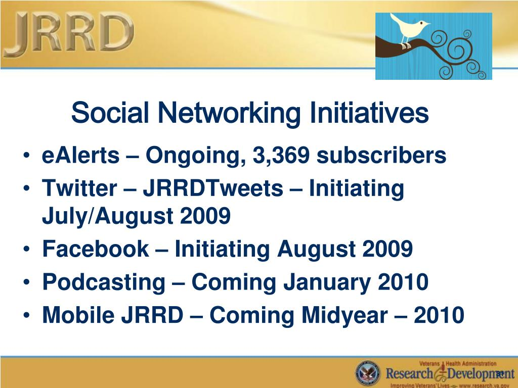 Social Networking Initiatives