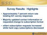 survey results highlights