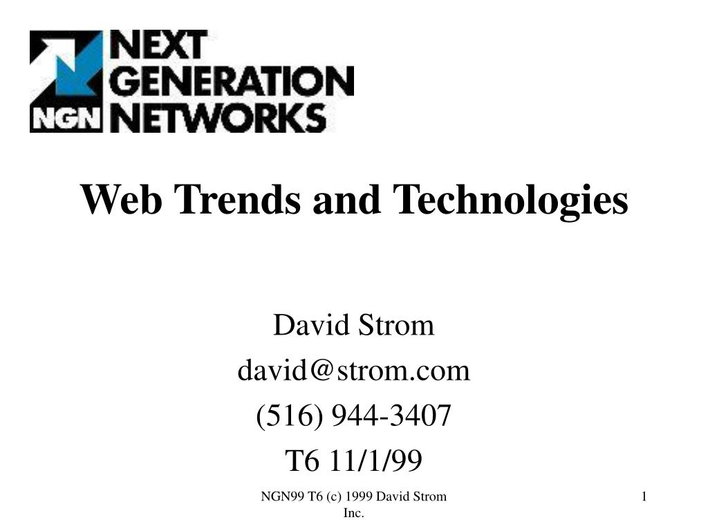web trends and technologies l.