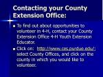 contacting your county extension office