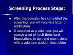 screening process steps2