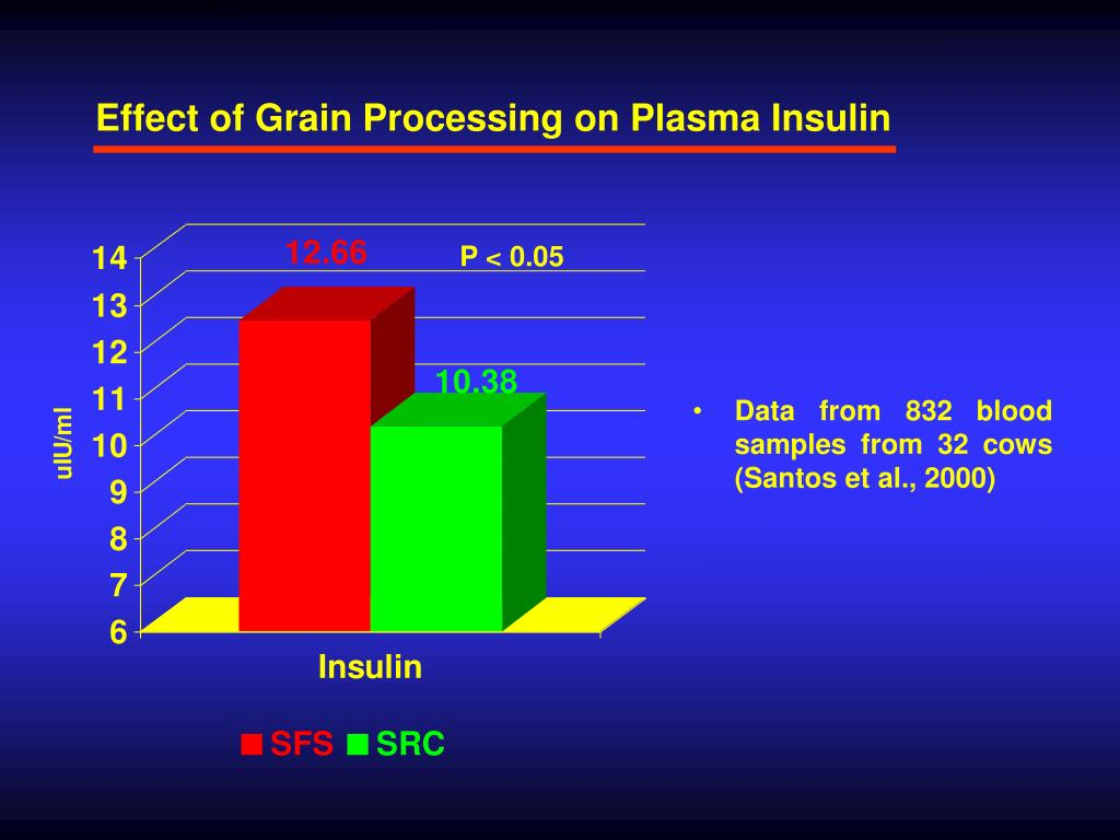 Effect of Grain Processing on Plasma Insulin