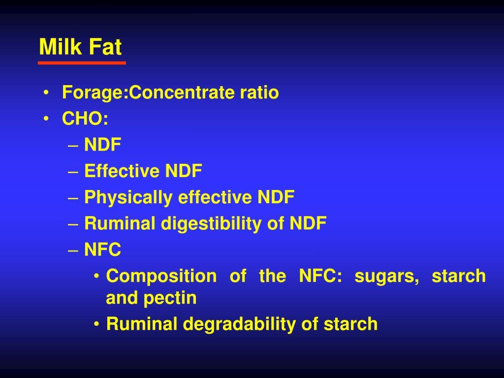 Milk Fat