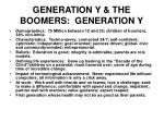 generation y the boomers generation y