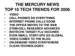 the mercury news top 10 tech trends for 2006