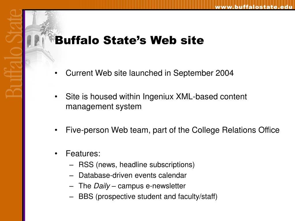 Buffalo State's Web site