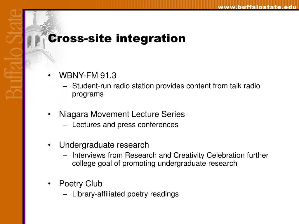 Cross-site integration
