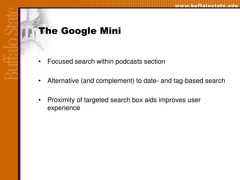 The Google Mini