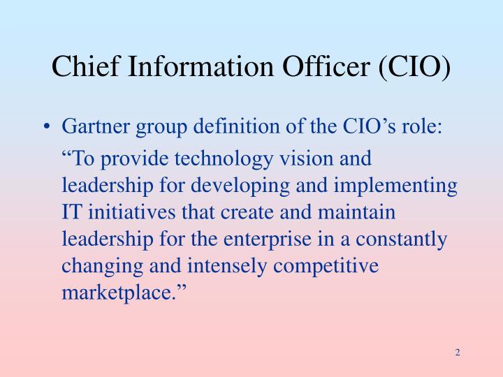 Chief information officer cio