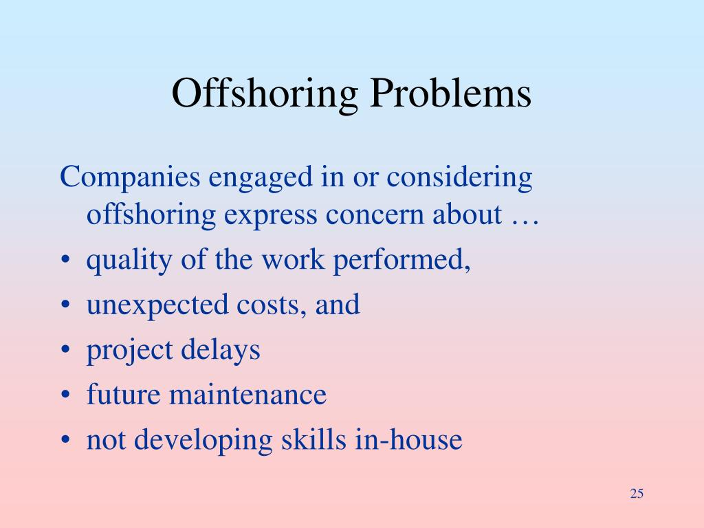 Offshoring Problems