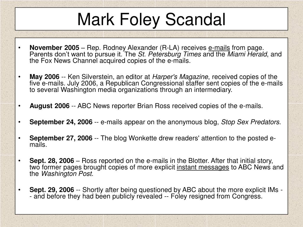 Mark Foley Scandal