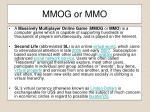 mmog or mmo