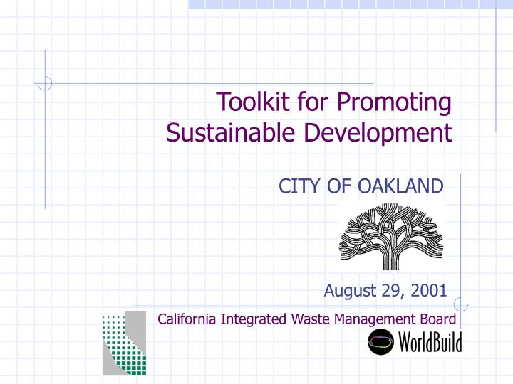 toolkit for promoting sustainable development n.