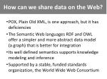 how can we share data on the web