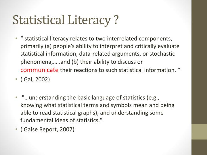 Ppt Talk Back To Statistics Powerpoint Presentation Id629464